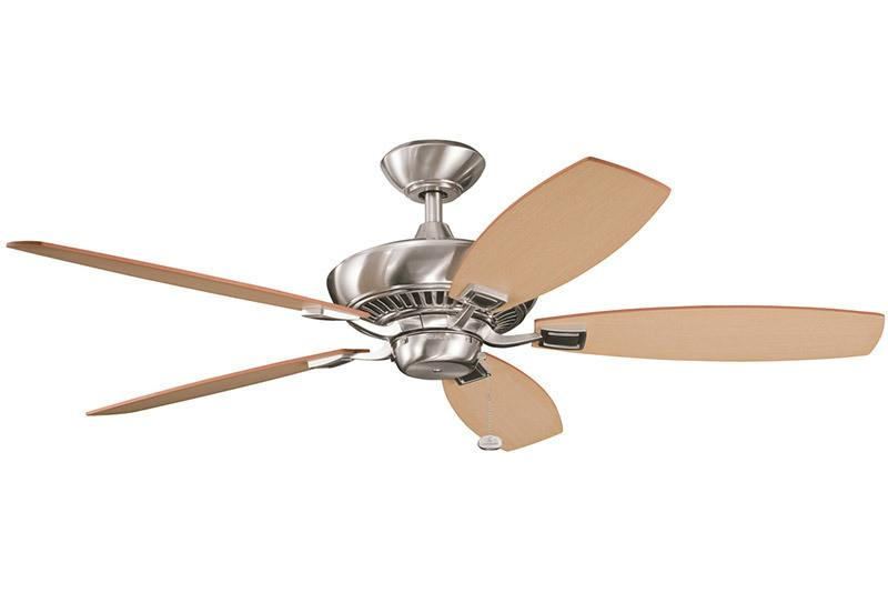 Kichler - 300117BSS - 52``Ceiling Fan - Canfield - Brushed Stainless Steel