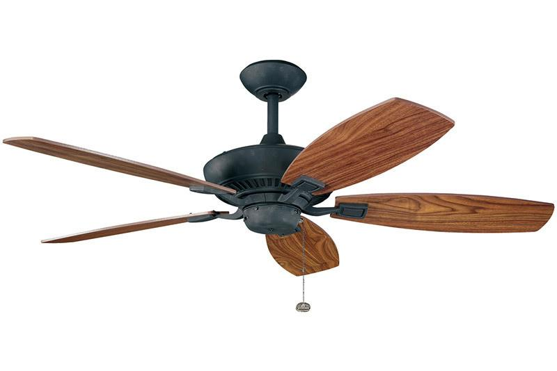 Kichler - 300117DBK - 52``Ceiling Fan - Canfield - Distressed Black