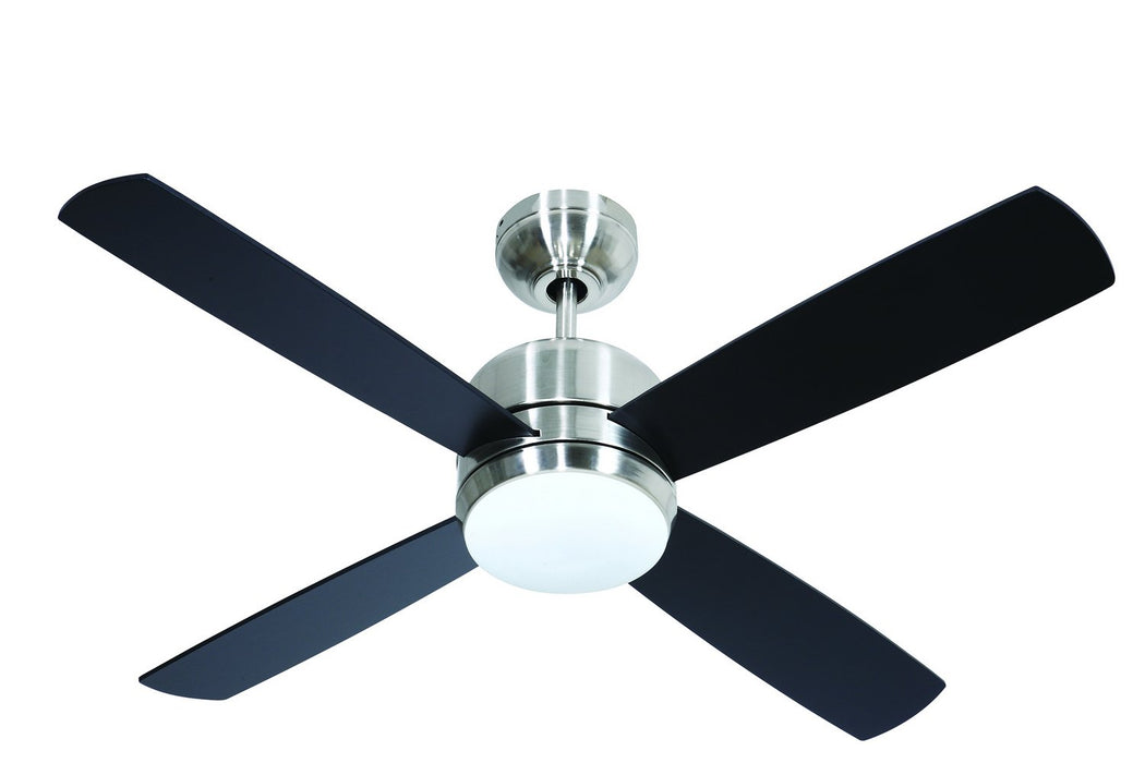 "Craftmade MN44BNK4-LED-UCI 44"" Ceiling Fan - Montreal in Brushed Polished Nickel"