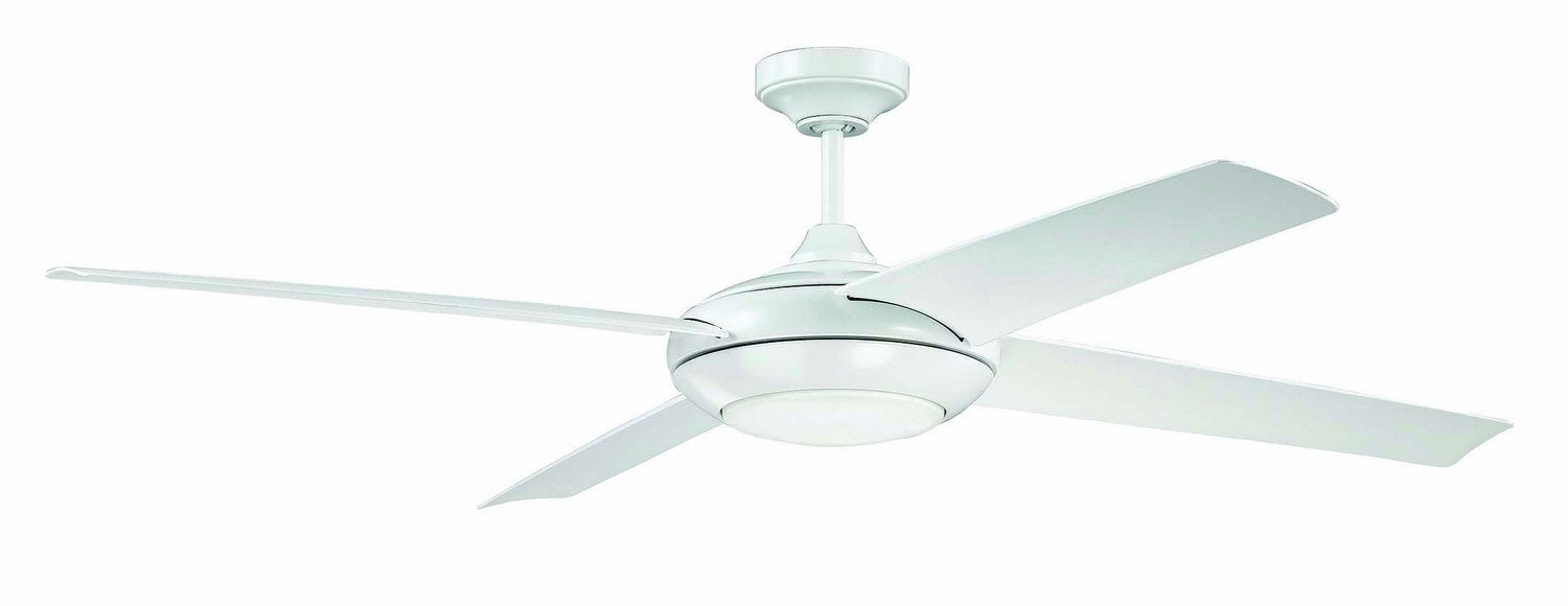 "Craftmade MOD60W4 60"" Ceiling Fan - Moderne in White"