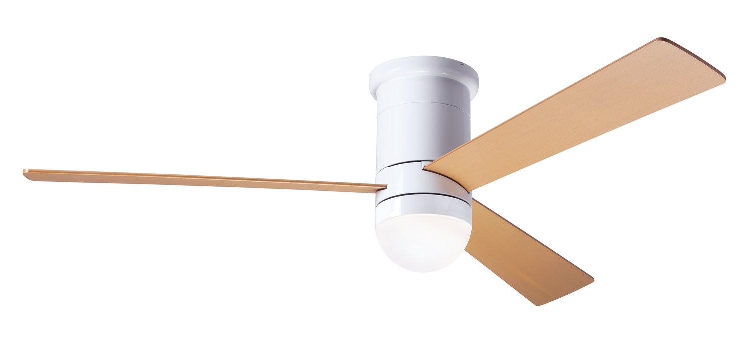 "Modern Fan Co 50"" Ceiling Fan from the Cirrus DC collection in Gloss White finish"