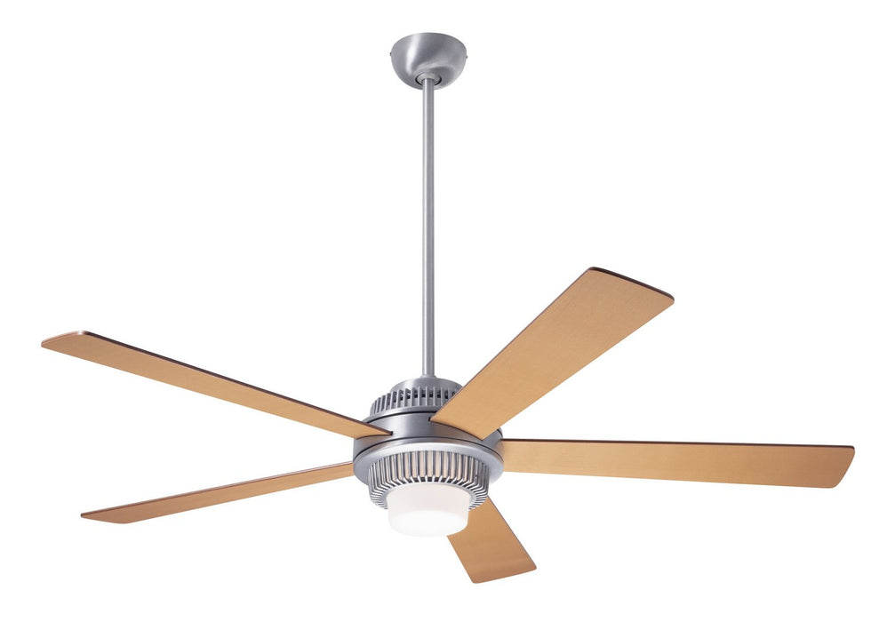 "Modern Fan CoSolus Fan, Brushed Aluminum Finish, 52""  Maple Blades, 17W LED, Fan Speed and Light Control (3-wire) 52"" Ceiling Fan from the Solus collection in Brushed Aluminum finish"