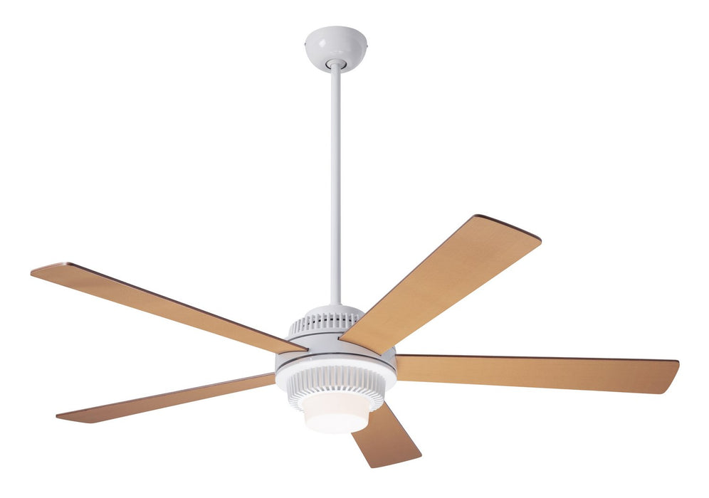 "Modern Fan CoSolus Fan, Gloss White Finish, 52""  Maple Blades, 17W LED, Handheld Remote Control (2-wire) 52"" Ceiling Fan from the Solus collection in Gloss White finish"