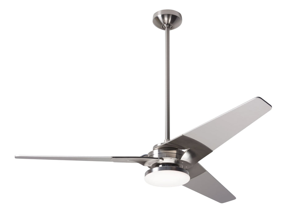 "Modern Fan Co 52"" Ceiling Fan from the Torsion collection in Bright Nickel finish"
