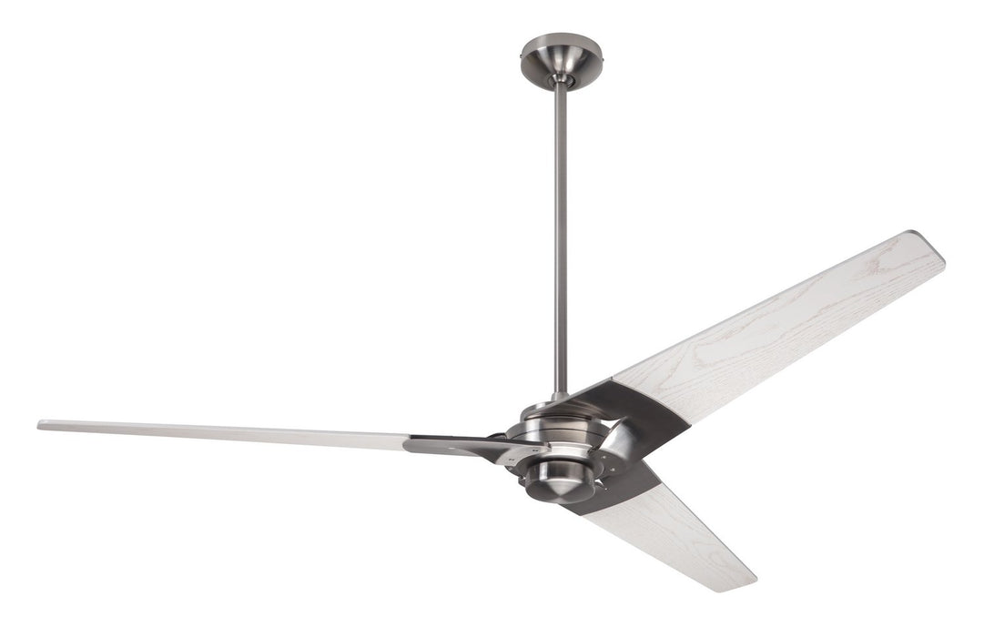 "Modern Fan Co 62"" Ceiling Fan from the Torsion collection in Bright Nickel finish"
