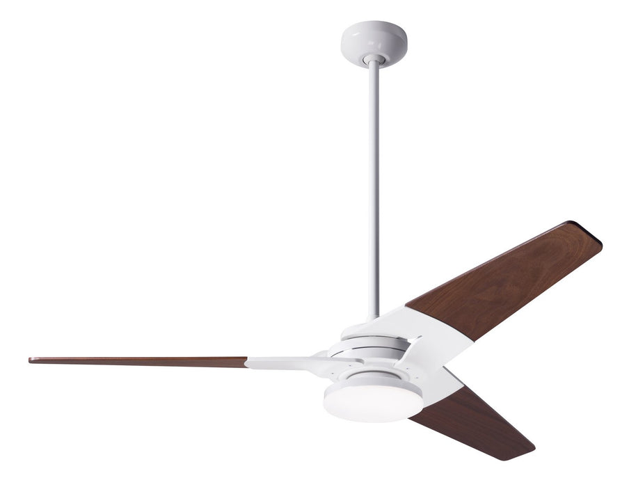 "Modern Fan Co 52"" Ceiling Fan from the Torsion collection in Gloss White finish"