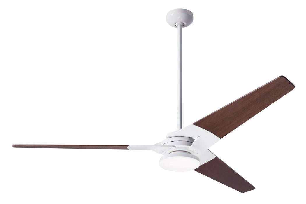 "Modern Fan Co 62"" Ceiling Fan from the Torsion collection in Gloss White finish"