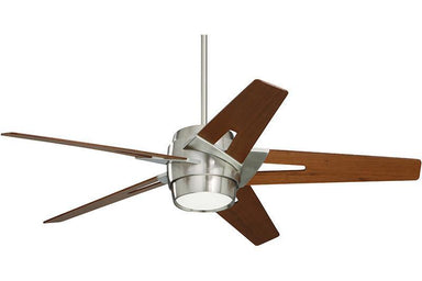 Emerson 54inch Luxe Eco in Brushed Steel with Walnut blades CF550LWABS