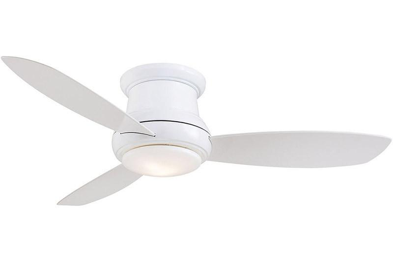 "Minka Aire F518L-WH 44"" Concept II Flushmount LED Fan in WH"
