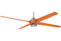 "Minka Aire F726-BN/ORG 60"" Spectre in BN with Orange"
