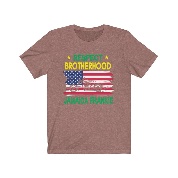 """RESPECT BROTHERHOOD"" - Unisex Jersey Short Sleeve Tee"