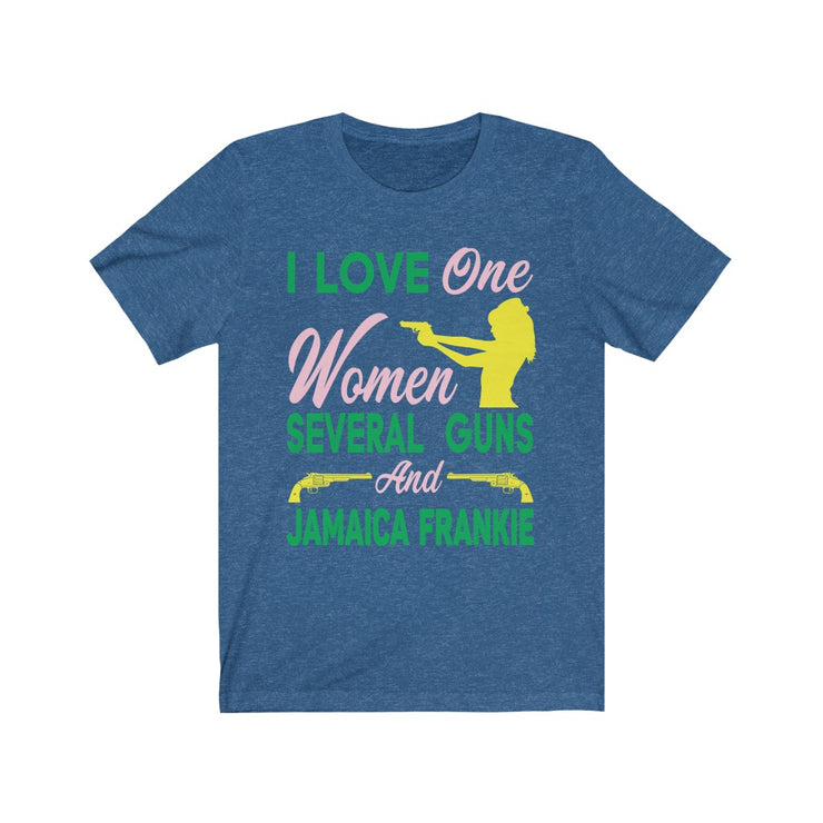 """ONE WOMEN LOVE"" JamaicaFrankie - Unisex Jersey Short Sleeve Tee"