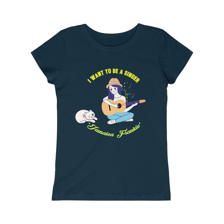 Girls Princess Tee - I Want To Be Singer JamaicaFrankie