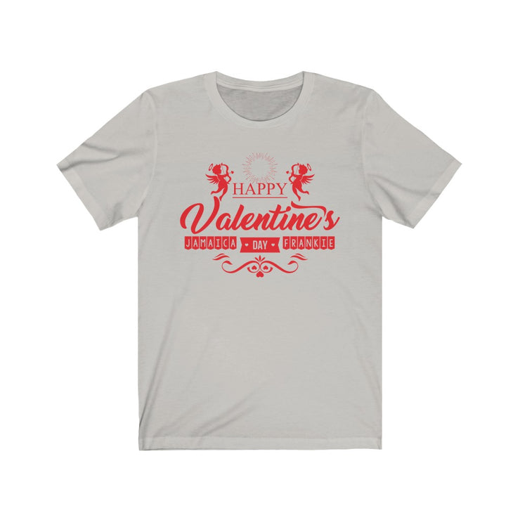 """Happy Valentine's Day""  Frankie.Fashion - Unisex Jersey Awesome Quality Tee"