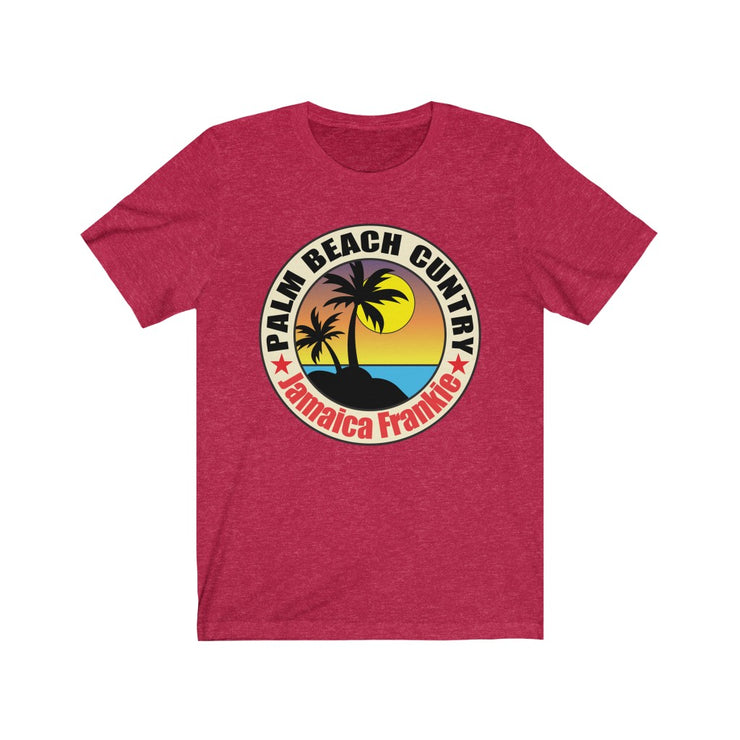 Unisex Jersey Short Sleeve Tee - PALM BEACH JamaicaFrankie FASHION