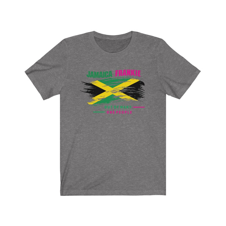 Unisex Jersey Short Sleeve Tee -  Out Of Many One People JamaicaFrankie