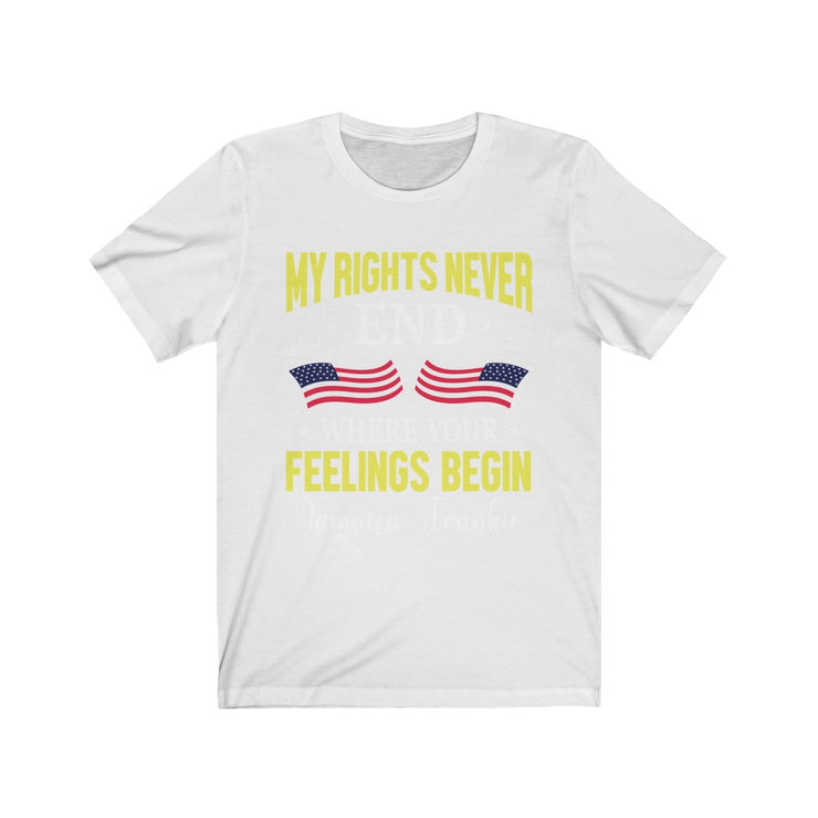 """MY RIGHTS NEVER JAMAICAFRANKIE"" -  Unisex Jersey Short Sleeve Tee"