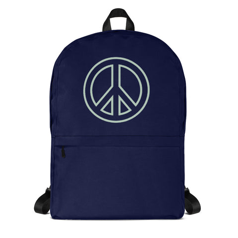 Peace Sign Navy Backpack