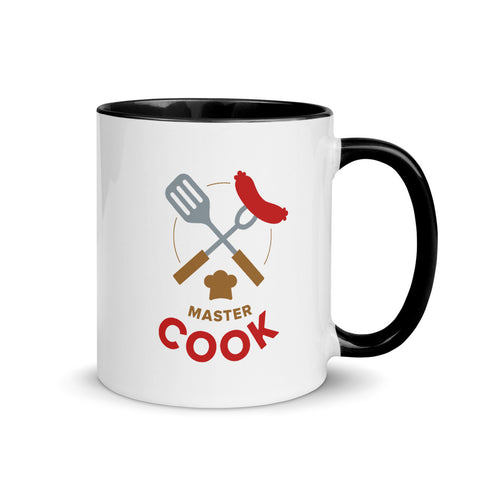 'Master Cook' Mug [Black, Red]