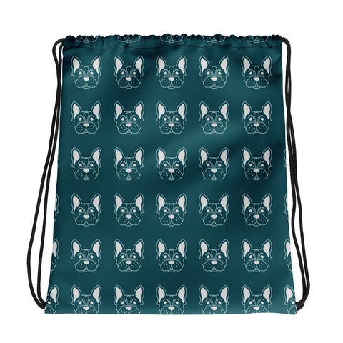 Dog Print Drawstring Bag