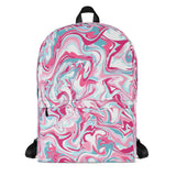 Pink & Blue Paint Effect Backpack