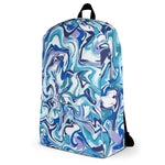 Blue & White Paint Effect Backpack
