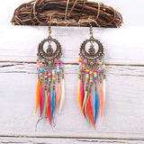Rainbow Dream Catcher Earrings