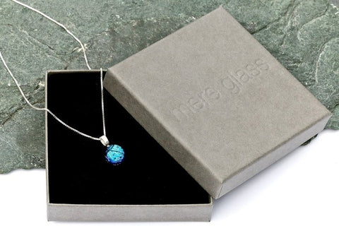 Mere Glass IDA Pendant Necklace - Ice Blue