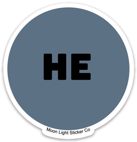 He Pronoun Sticker