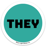 They Pronoun Sticker