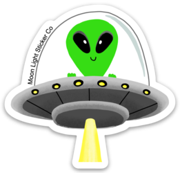 Alien UFO Vinyl Sticker