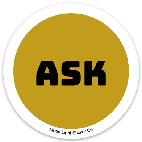 Ask Pronoun Sticker