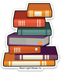 Book Stack Sticker