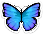 Blue Butterfly Sticker
