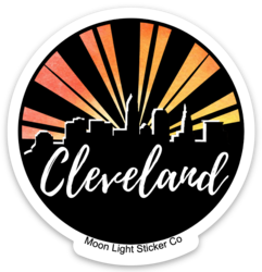 Cleveland Sticker Orange