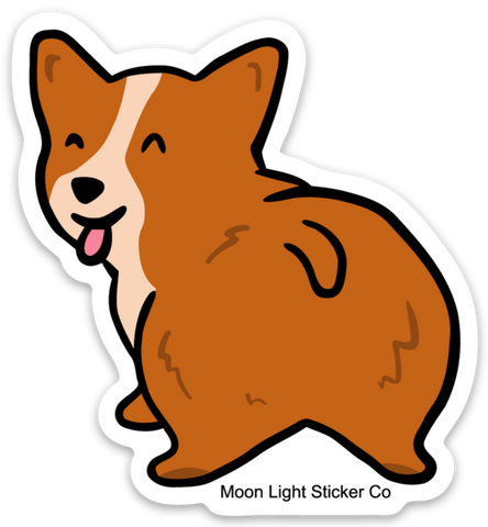 Corgi Tail Sticker