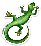 Green Gecko Sticker