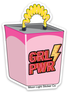 GRL PWR  Battery Sticker