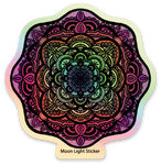 Holographic Mandala Sticker