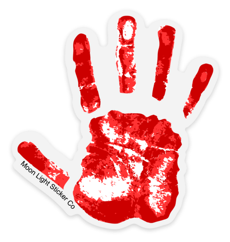 Bloody Hand Print Sticker