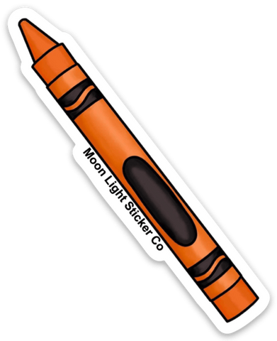 Orange Crayon Sticker