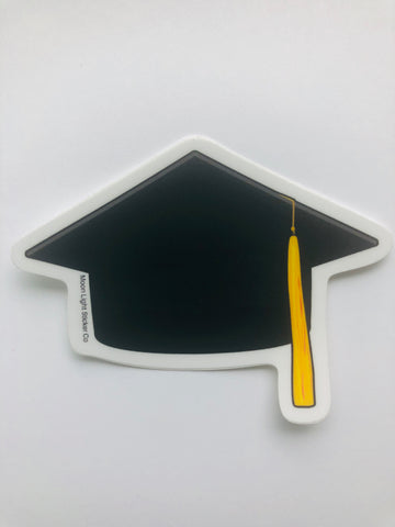 Grad Cap Sticker