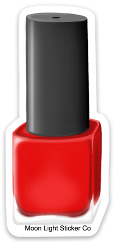 Red Nail Polish Sticker