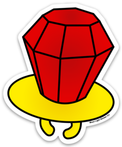 Red Ring Pop Sticker