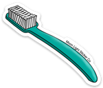 Toothbrush Sticker