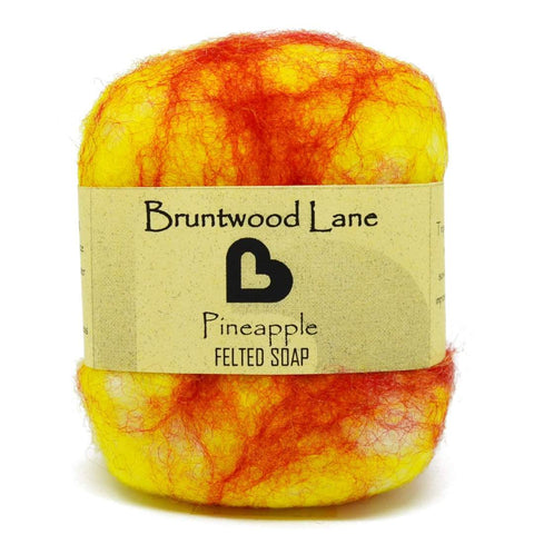 Pineapple Felted Soap
