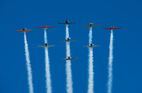 Yak -52s in Formation