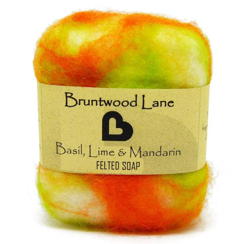 Basil, Lime & Mandarin Felted soap