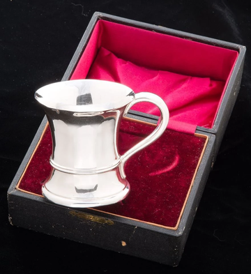 Sterling Silver Boxed Christening Mug