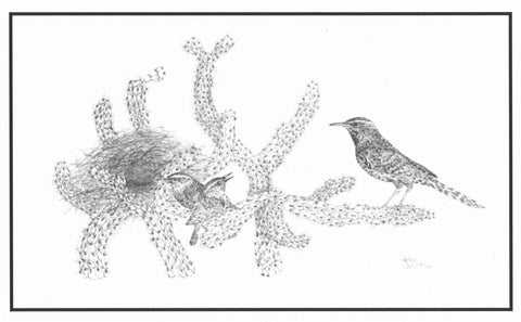 "18.  ""Cactus Wrens"" limited edition print by Georgean Z. Kyle"